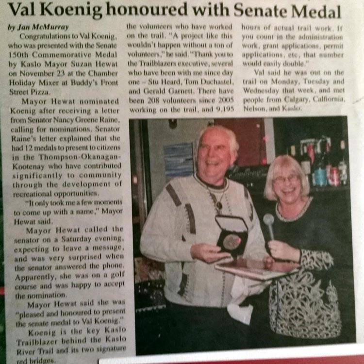 Val Koenig Senate Medal
